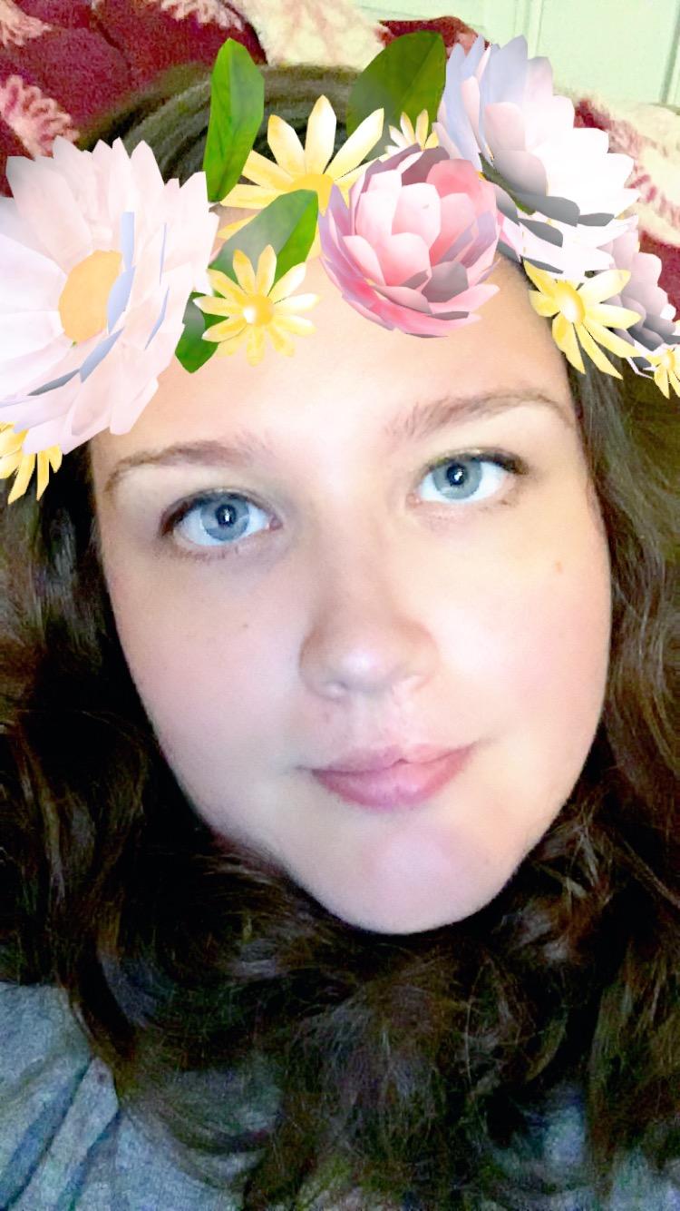 Snapchat Crown filter me