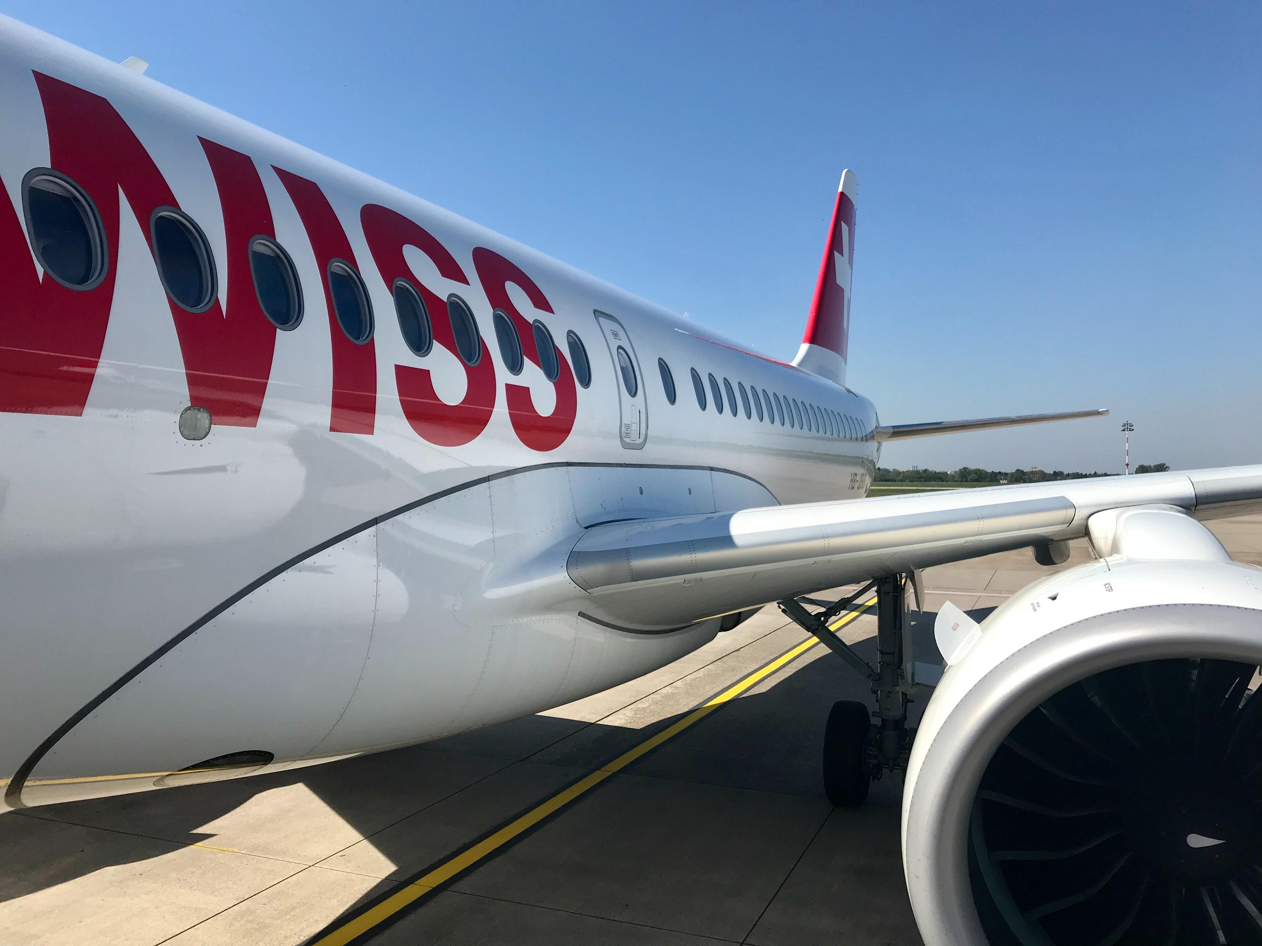 swiss plane at Zurich airport
