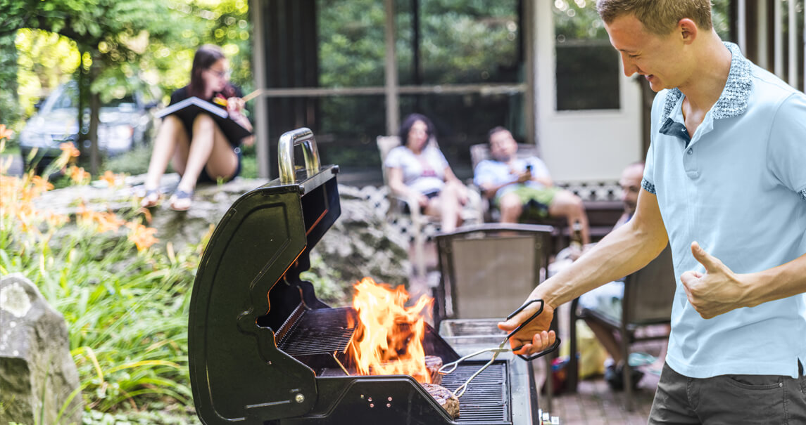 Clean and maintain gas grill
