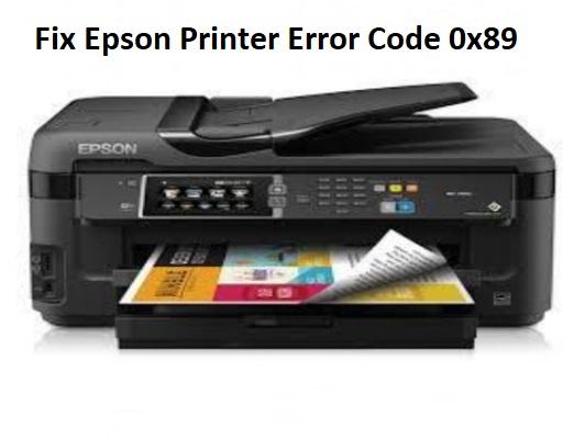 Epson Printer Error Code 0x89