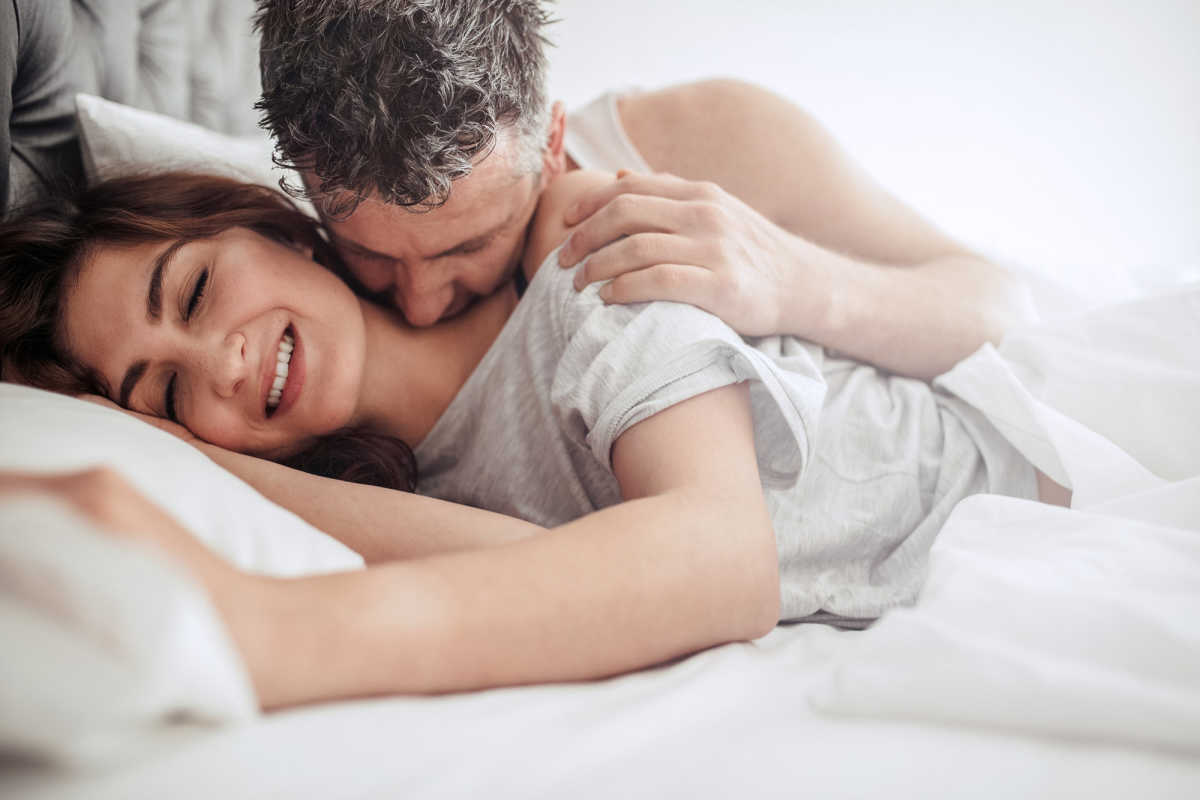 Couple having fun with Adult Products
