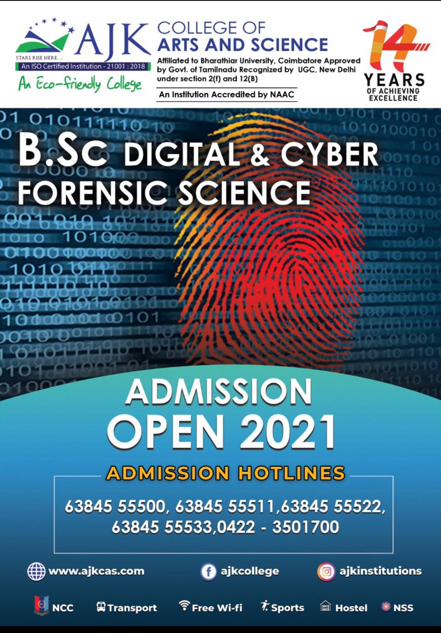 DIGITAL & CYBER FORENSIC SCIENCE College Coimbatore