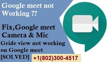 Google meet not working