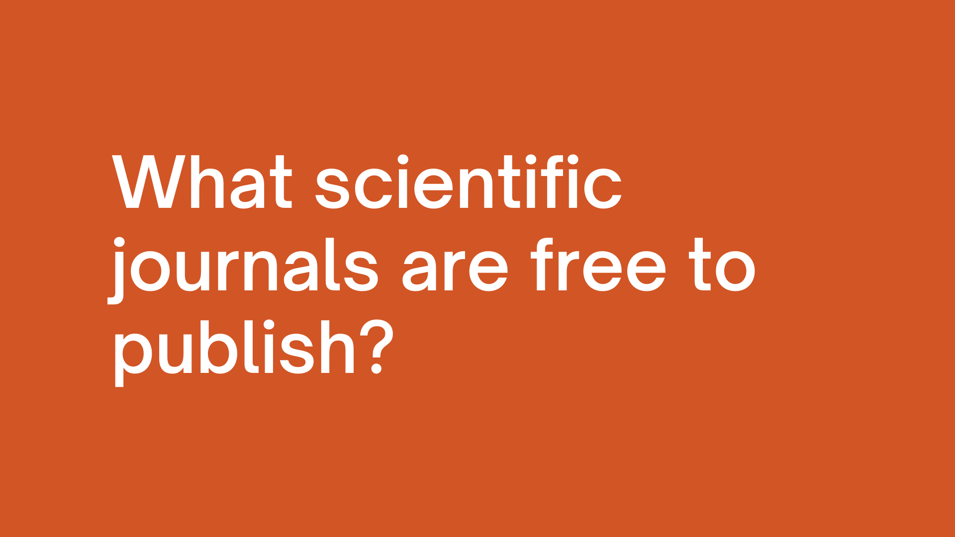 How can I publish my journal article for free
