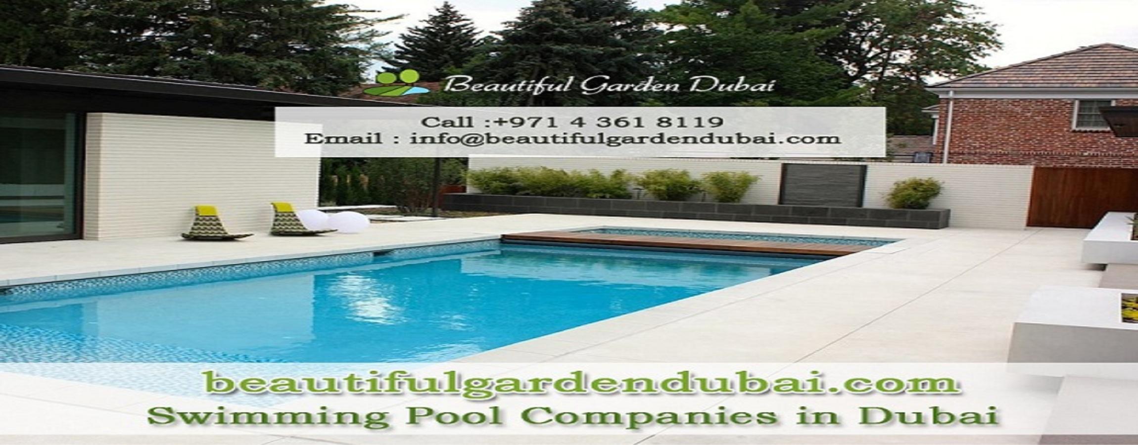 Swimming pool companies in Dubai, swimming pool contractors in Dubai, landscape maintenance companie